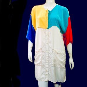 Vtg Castelbajac Drawing Tunic Top 1988 - AS IS